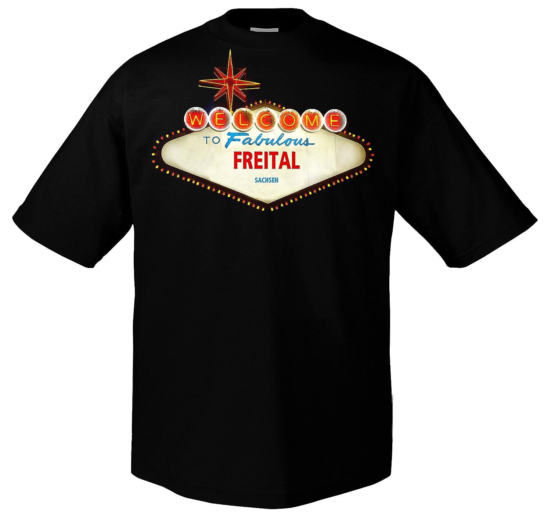 54aa1be5771453 FUN Welcome to Freital Sachsen Funshirt Las Vegas  Amazon.de  Bekleidung
