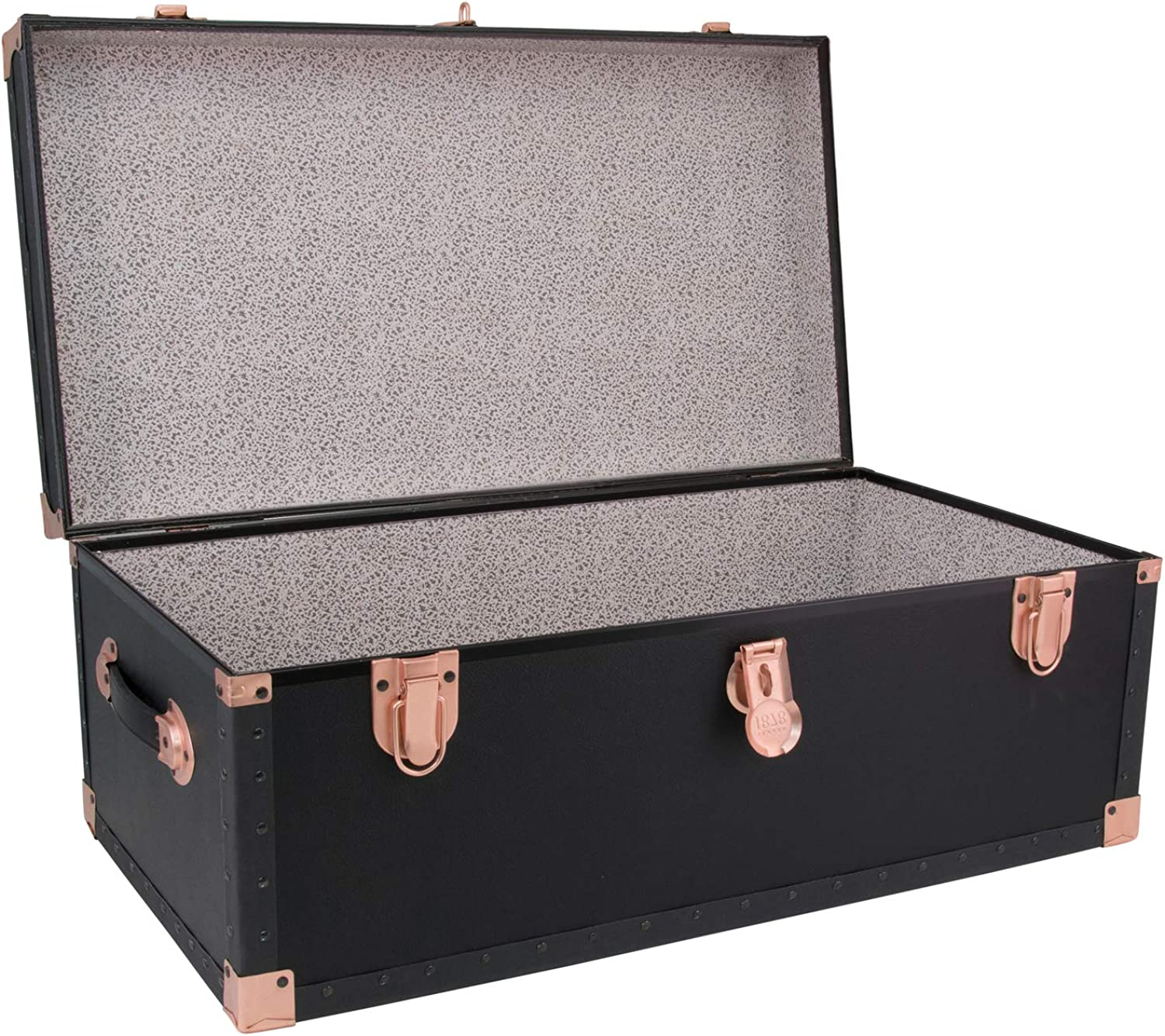 Black//Rose Gold Seward Trunk Classic Collection 31 Footlocker Trunk