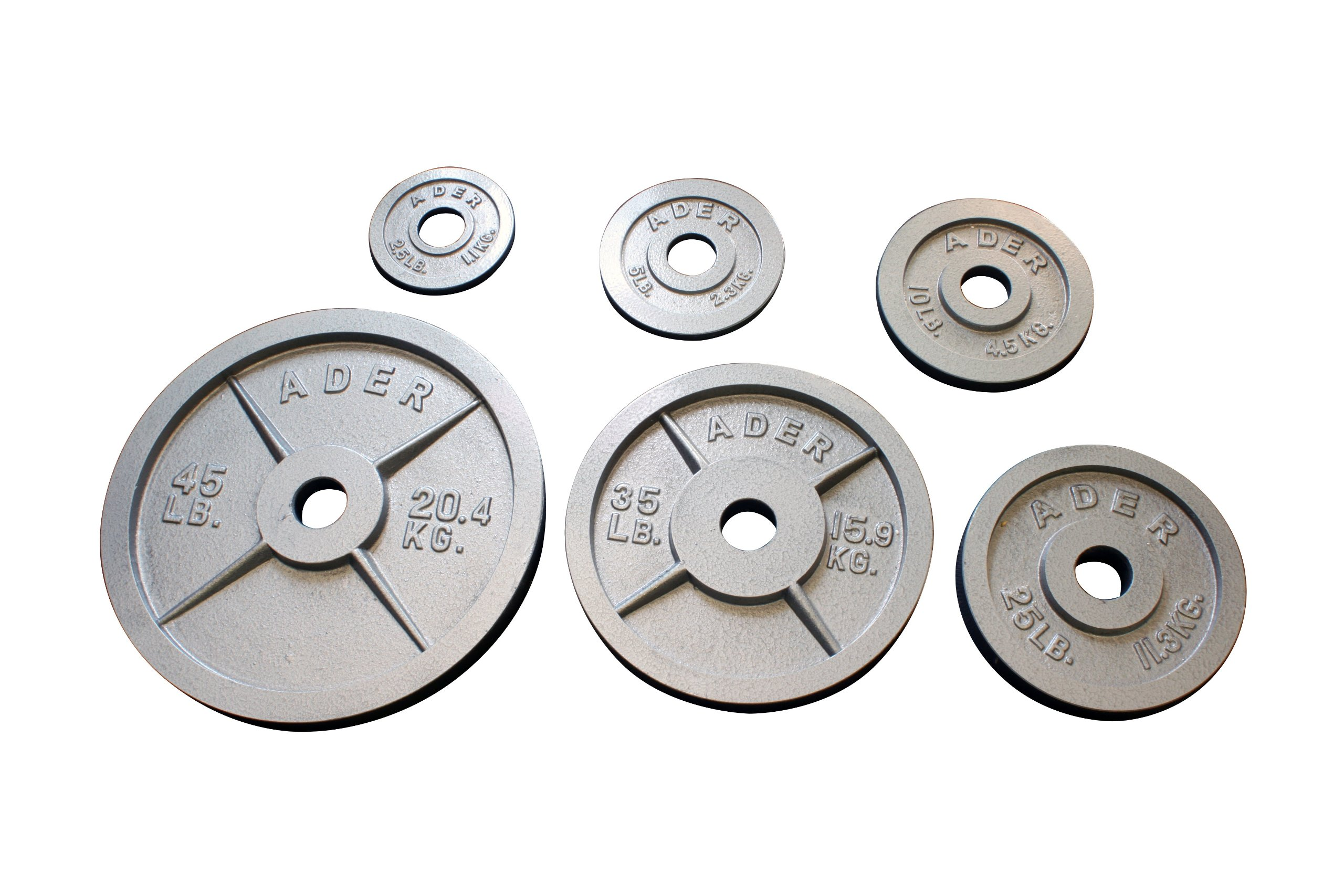 Olympic Plate (Gray Hammertone Finished, 2.5 Lb) Sold as Pair