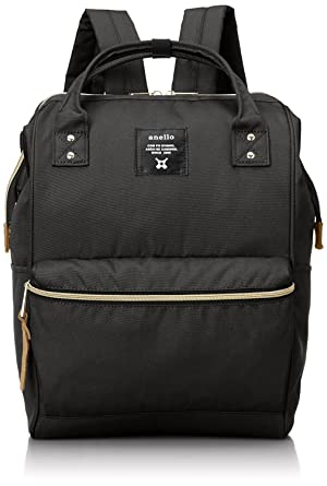 Anello Polyester Canvas Backpacks Japan import (Black) c794612933a3f