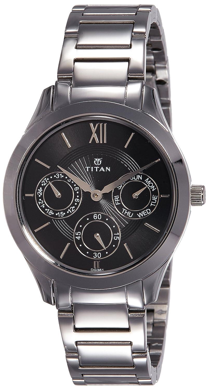 Buy Titan Analog Black Dial Womens Watch Nk2570sm02 Online At Low Casio Ltp 1378l 2e Women Quartz Blue Prices In India