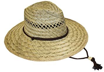 Amazoncom Mens Outdoor Work or Garden Straw Hat 48 Patio