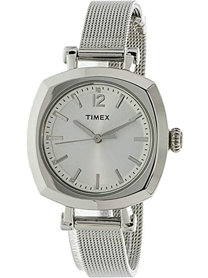 Timex Women 's Style Elevated TW2P62900 plata moda reloj de cuarzo japonés de acero