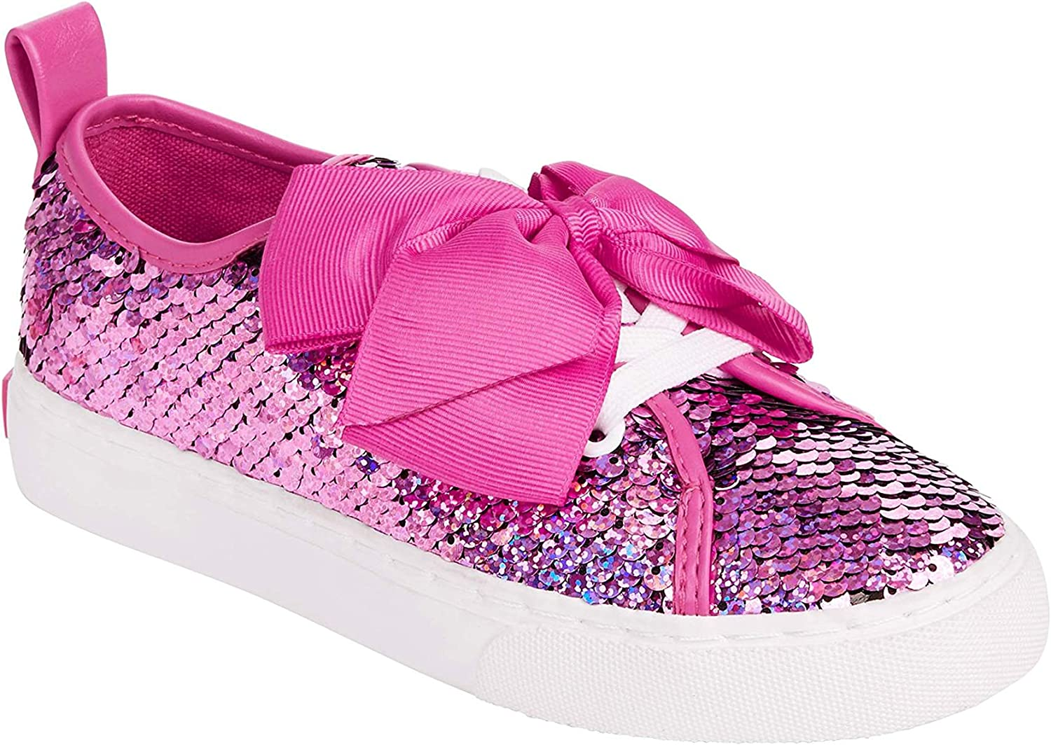 Amazon Com Jojo Siwa Girls Pink Sequin Canvas Sneaker Shoe