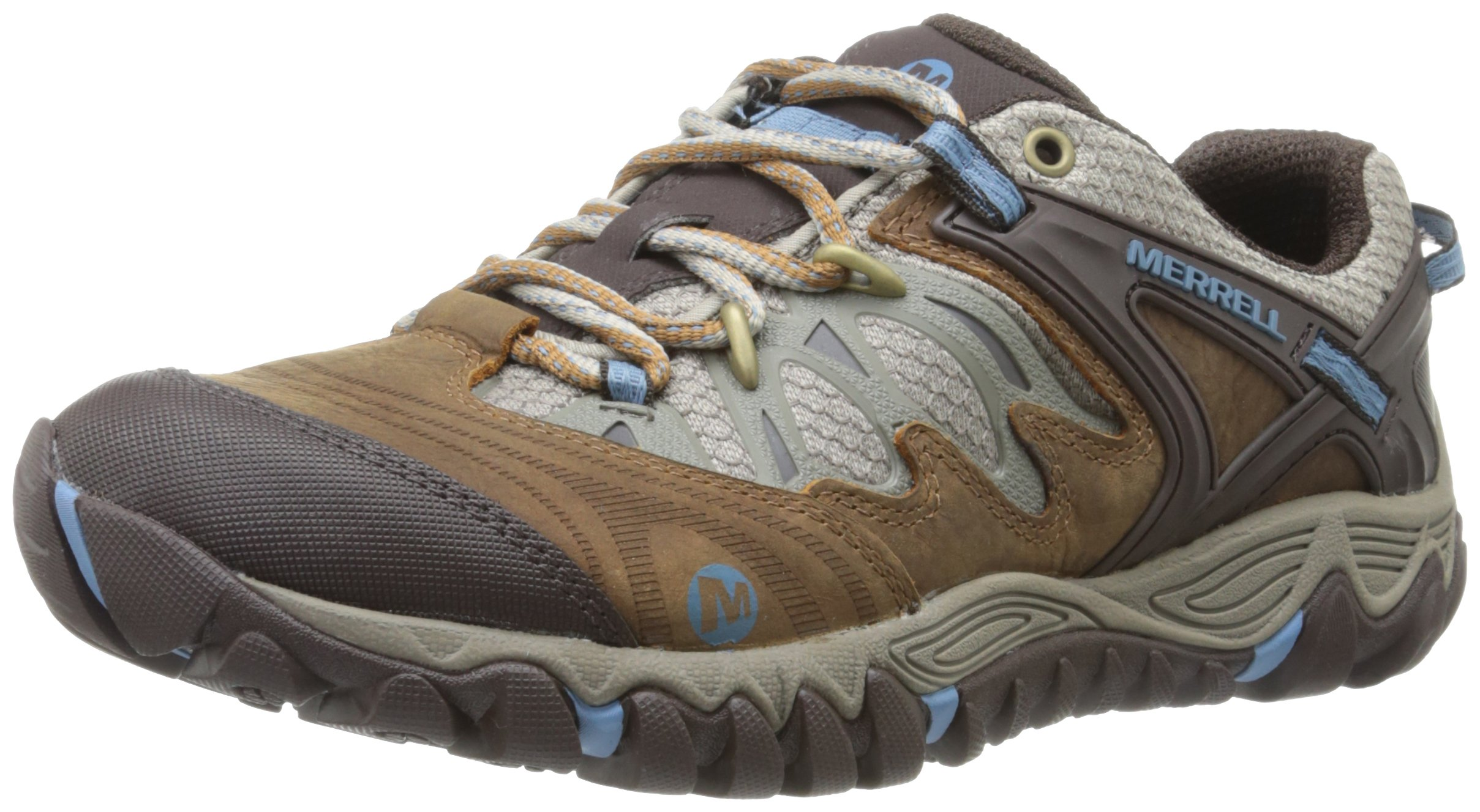 Merrell Women's All Out Blaze Hiking Shoe,Brown Sugar/Blue Heaven,8.5 M US