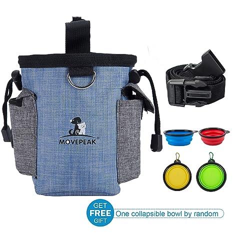 MOVEPEAK - Bolsa de Entrenamiento para Perros – Dispensador de Bolsas Integrado, Perfecto para Transportar