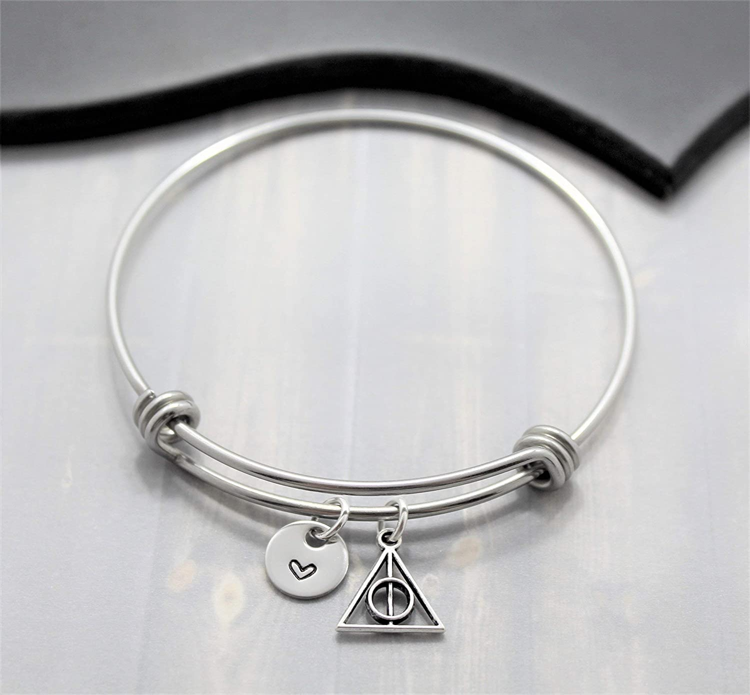 Deathly Hollows Bracelet - Deathly Hollows Jewelry - Harry Potter Fan - Adjustable Bangle - Fast Shipping
