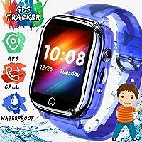 ONMET impermeable relojes inteligentes niños smartwatch, reloj gps niños reloj inteligente niña con GPS, Pantalla Táctil…