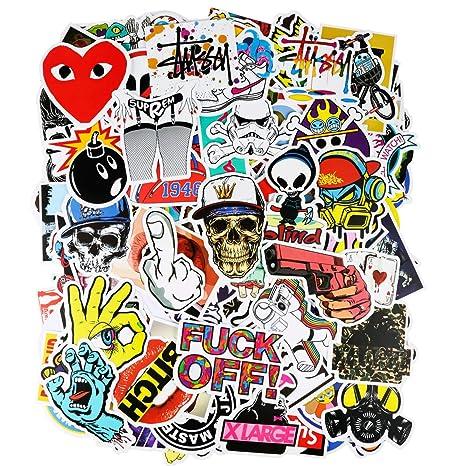 200 Stücks wasserdicht Aufkleber, ivencase Sticker Decals stilvoll für Auto Motorräder Fahrrad Skateboard Snowboard Laptop Ge