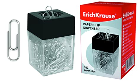 Dispensador de clips + 100 grapas Erich Krause EK-22096