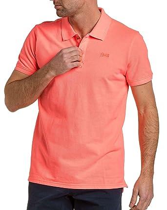 Petrol Industries Piqué Polo Man Neon Coral - Color Pink, Size: XL