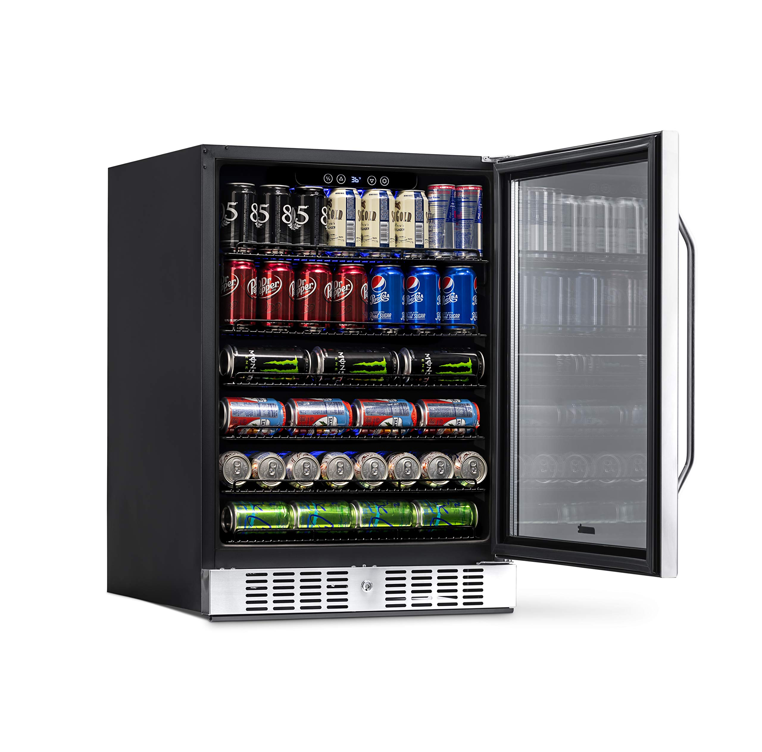 NewAir Built-In Beverage Cooler and Refrigerator, Stainless Steel Mini Fridge with Glass Door,  177 Can Capacity, ABR-1770 by NewAir (Image #9)