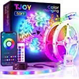 50ft Bluetooth LED Strip Lights, Music Sync 5050 LEDLight StripRGB Color Changing LED Lights Strip with PhoneRemote, LED L