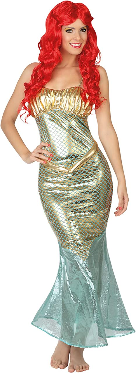Atosa-26677 Disfraz Sirena, color plateado, XL (26677): Amazon.es ...