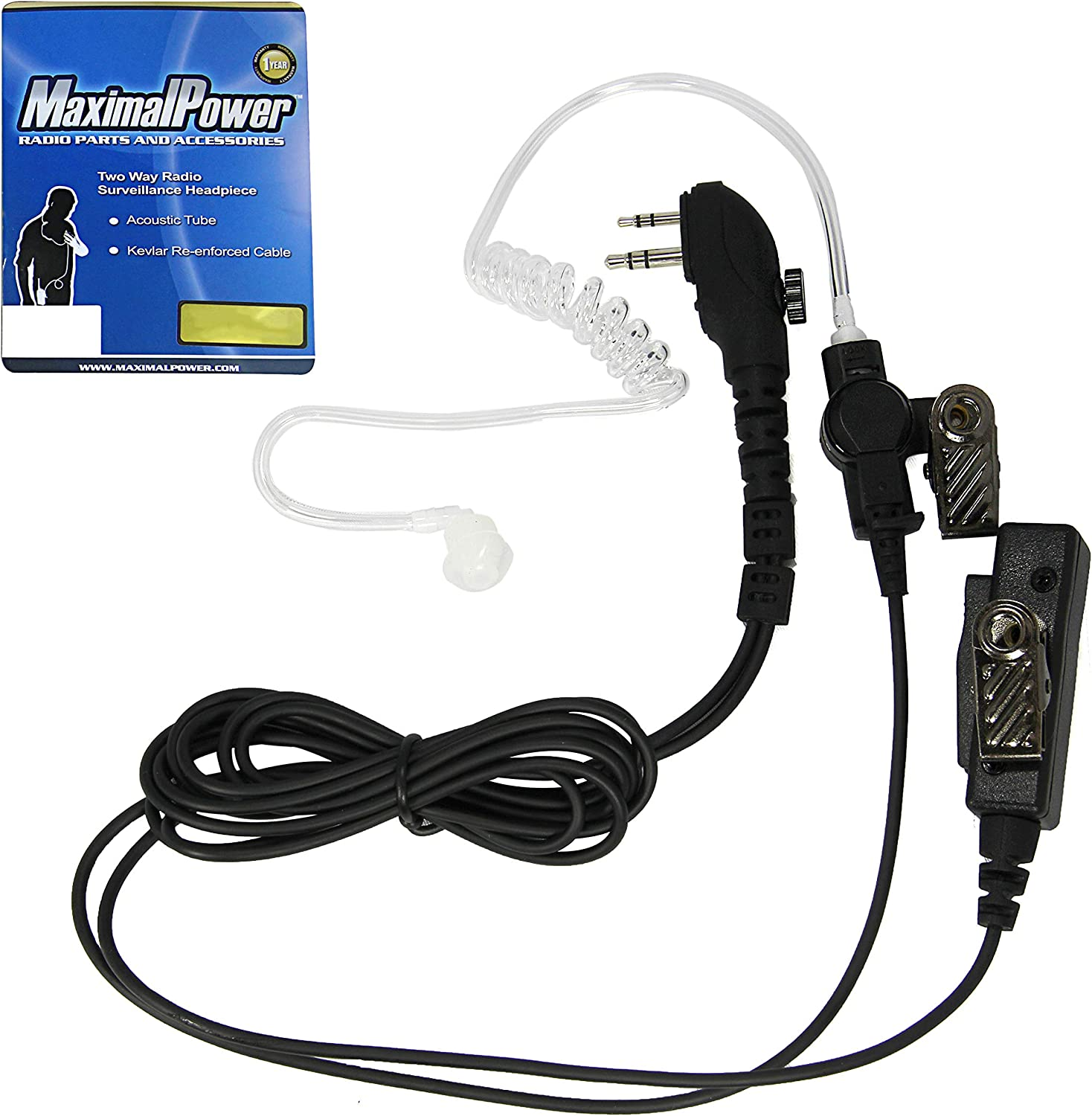 5x SURVEILLANCE EARPIECE ACOUSTIC TUBES WITH EARBUDS AND CONNECTORS FOR RADIO