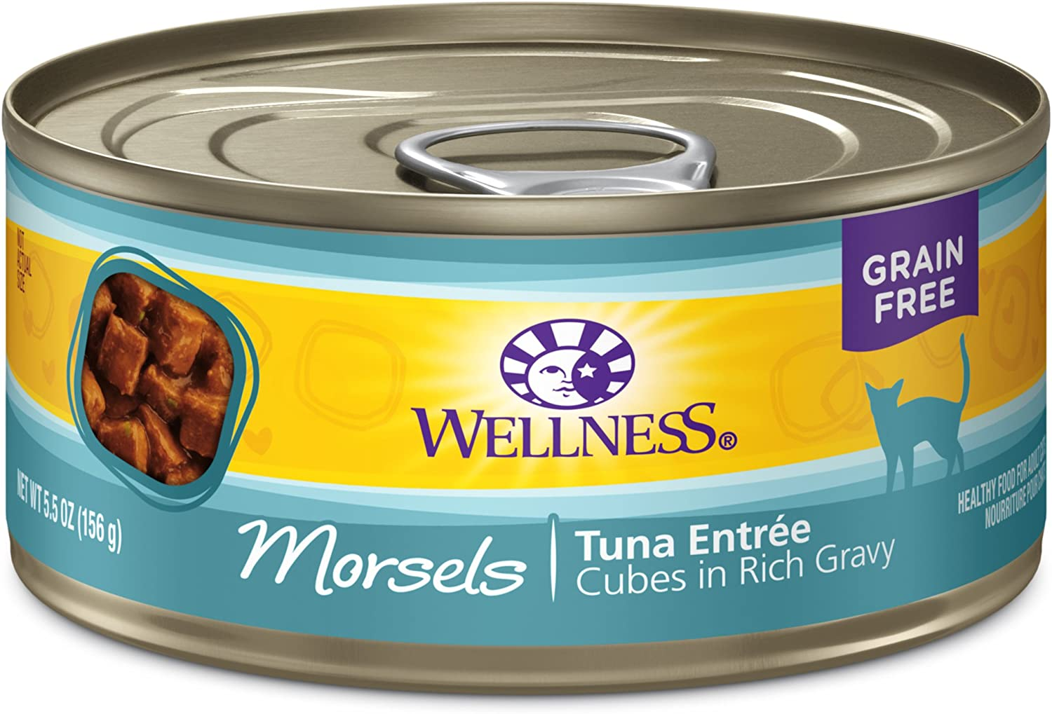 Wellness Complete Health Morsels Grain Free Canned Wet Cat Food (Pack of 24)