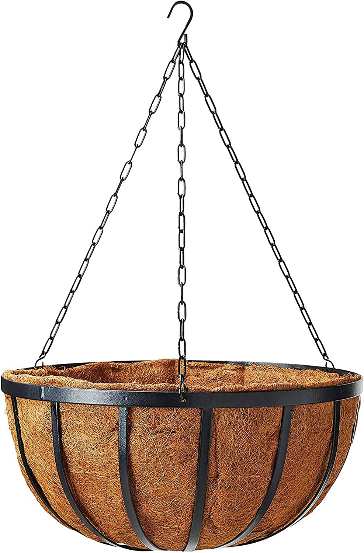 "Arcadia Garden Products 1592 Inch Solstice Round Hanging Basket Planter, 16"""