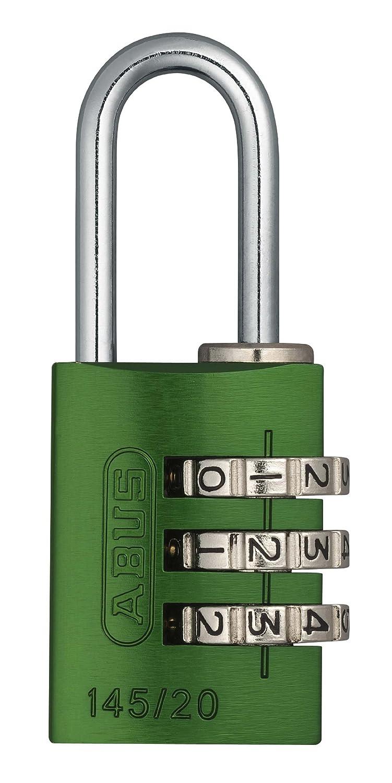 Abus 145/20_VERDE_C - Candado aluminio combinacion 20mm 3 dí gitos verde blister 14520GRE