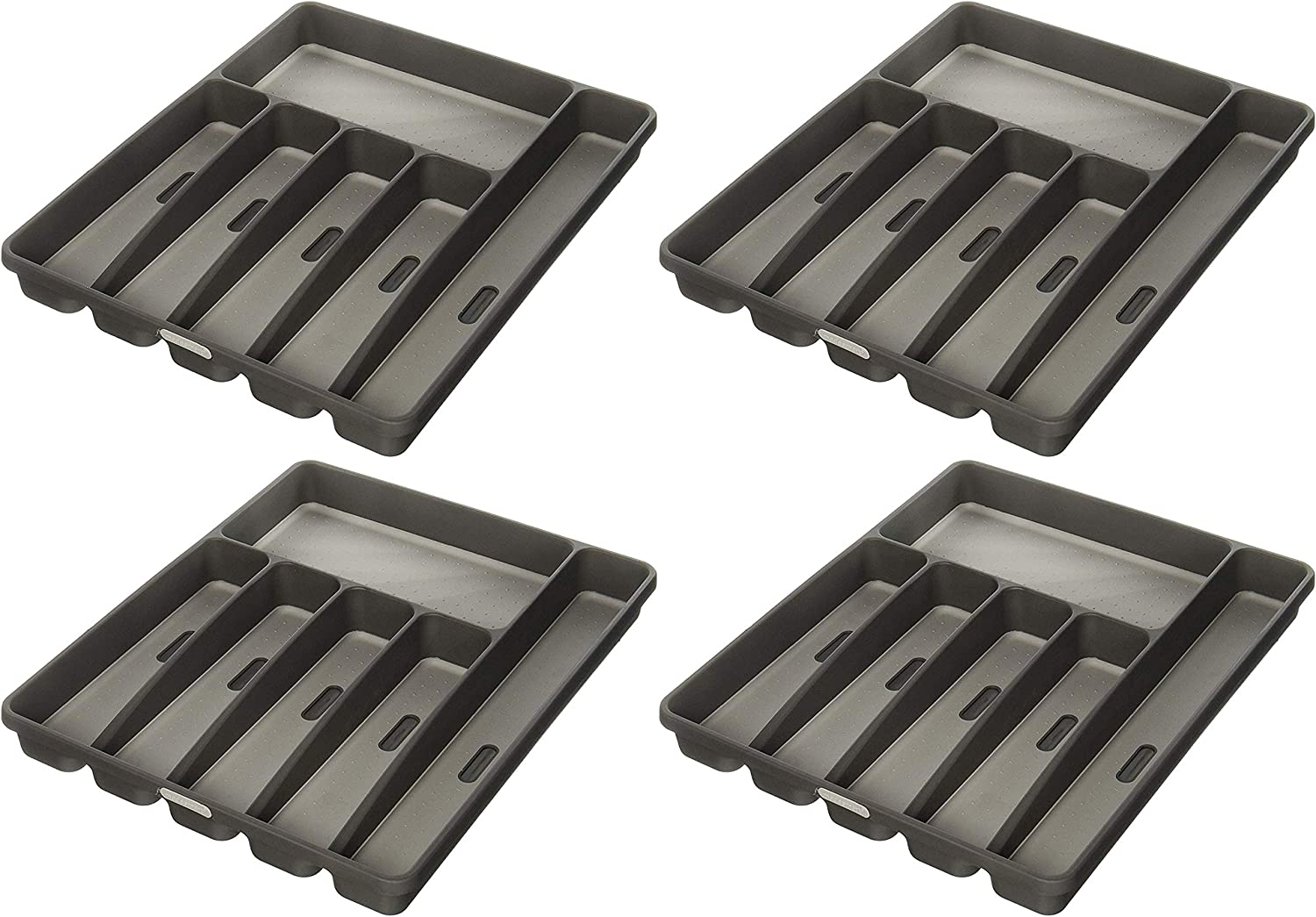 WhiteCLASSIC COLLECTION6-Compart madesmart Classic Large Silverware Tray