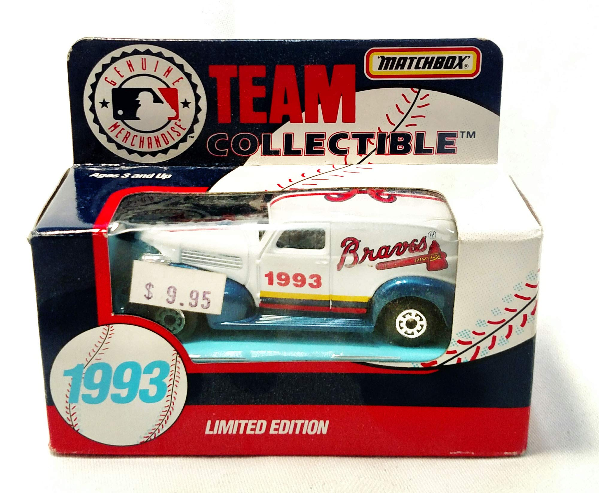 Atlanta Braves 1993 Limited Edition Matchbox Die Cast Collectible