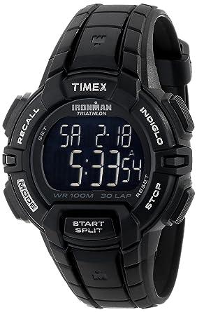 timex menu0027s t5k793 ironman rugged 30 fullsize blackout resin strap watch