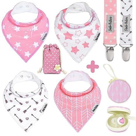 Baberos bandana para bebé de Dodo Babies para niñas + 2 ...