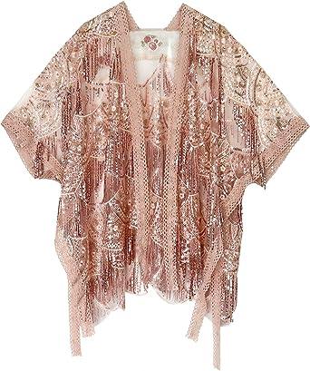 keland Brillantes lentejuelas de las mujeres con cuentas bufanda fiesta del partido encogimiento de la camisa camisa blusa ropa (oro): Amazon.es: Ropa y accesorios