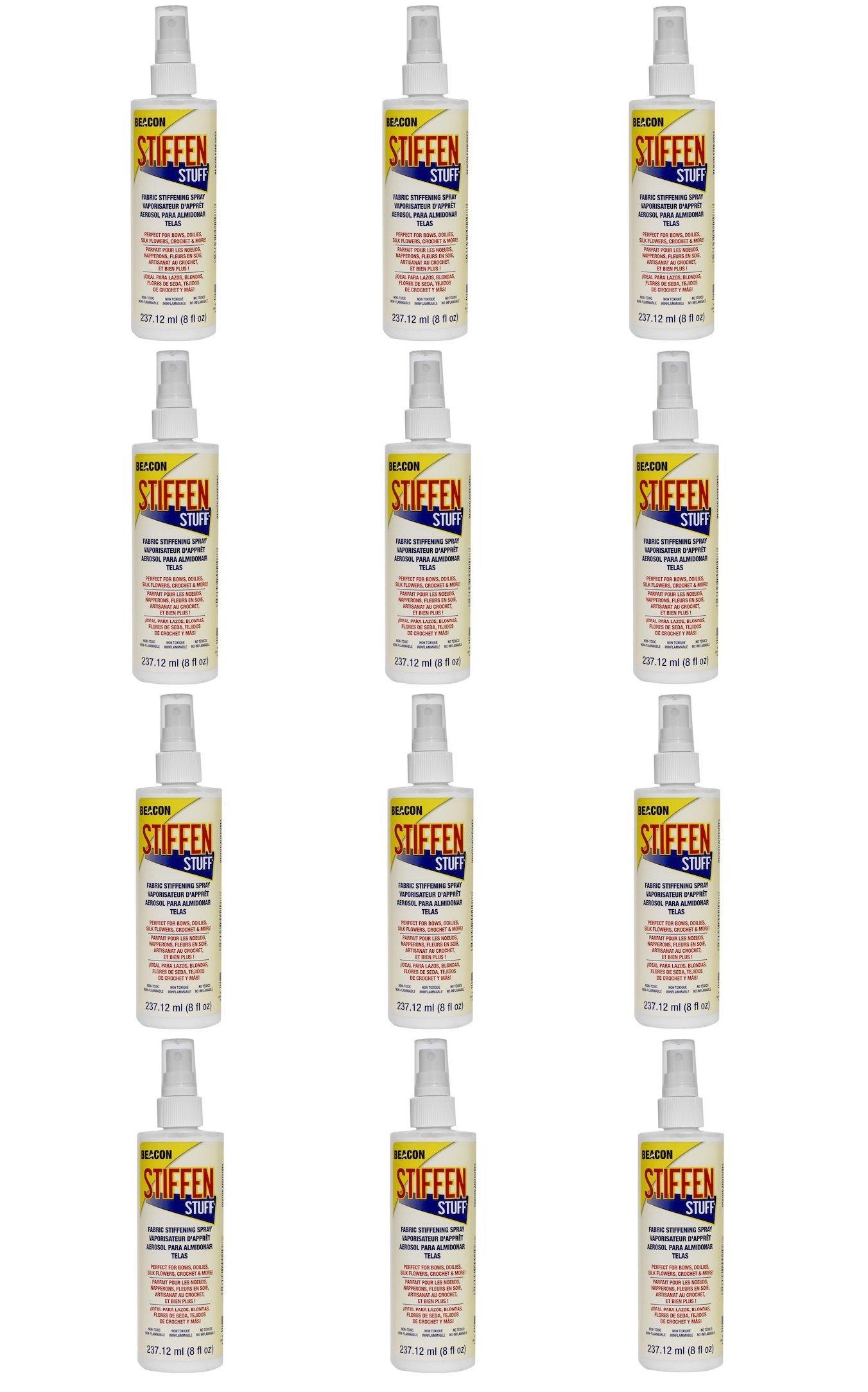 Beacon Stiffen Stuff Spray, 8-Ounce Bottle, 12-Pack