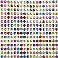 AllyDrew 4mm Crystal Diamond Sticker Adhesive Rhinestone, 846pcs (Multi-Color)