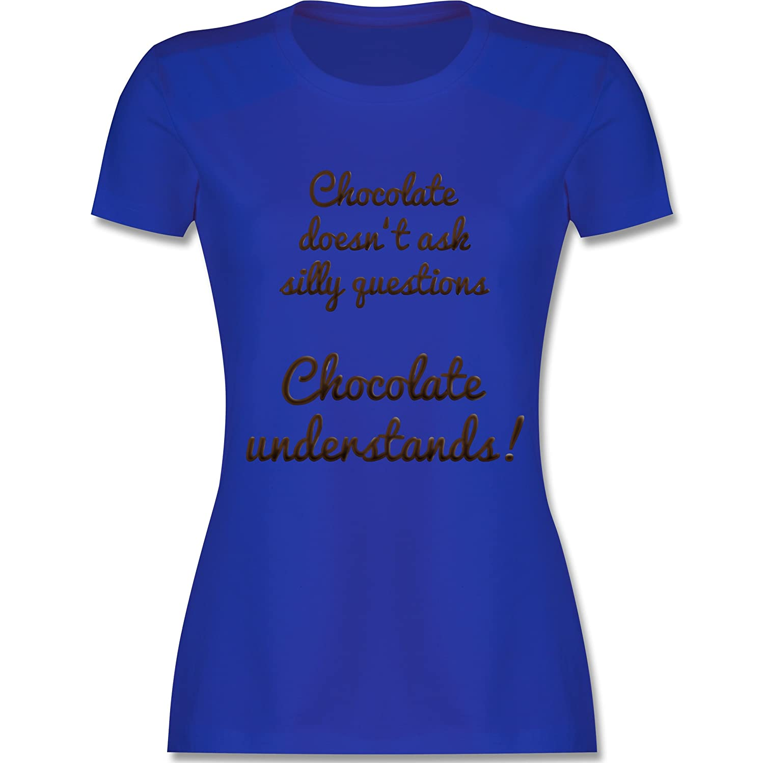 Shirtracer Küche - Chocolate Understands! - Damen T-Shirt Rundhals:  Shirtracer: Amazon.de: Bekleidung
