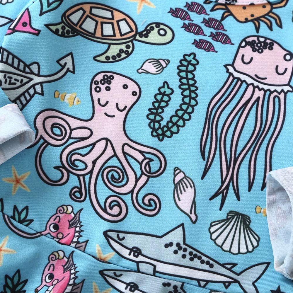 XUANOU Long Sleeve for Kids Cartoon Animal Print Dress Skirt Baby Girl Kids Animal Cartoon Long Sleeve Dress Dresses