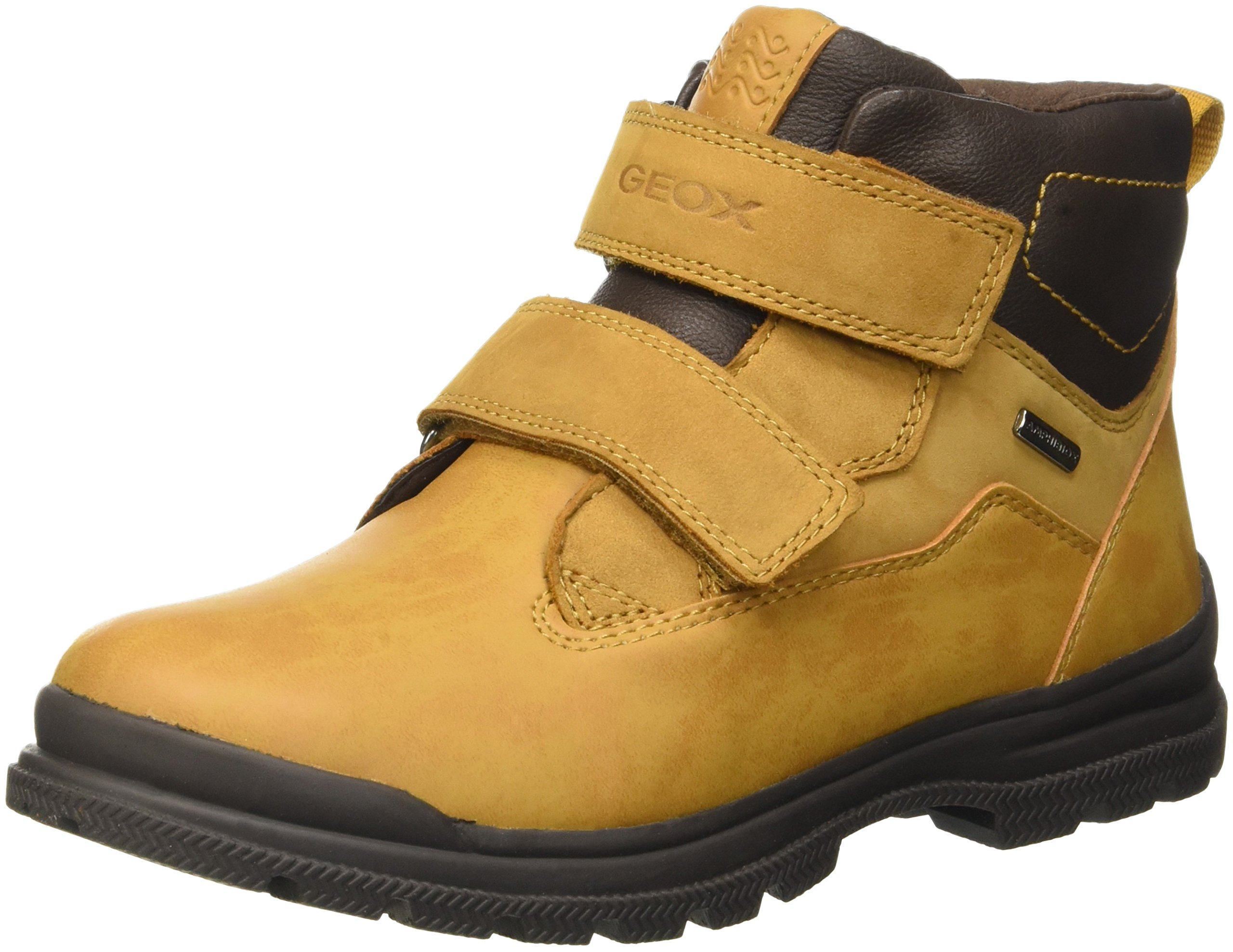 Geox Boys' Jr William B Abx 5-K Rain Boot, Ochre Yellow/Brown, 32 EU(1 M US Little Kid) by Geox