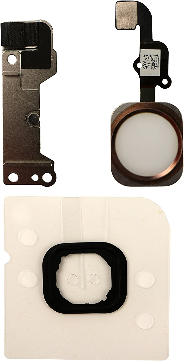 COHK Home Button Key Flex Cable Assembly with Rubber Ring Replacment Part Compatible with iPhone 6s and 6s Plus (Rose Gold)