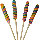 9 inch Twist Lollipops 12 units 1oz Rainbow