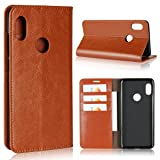 Xiaomi 6X/A2 Wallet Case, Jaorty Genuine Leather