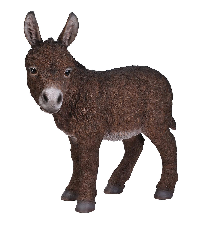 Donkey ornaments - Vivid Arts Chocolate Baby Donkey Resin Ornament Amazon Co Uk Garden Outdoors