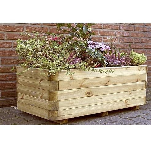 Pflanzkasten Pflanzkübel Holz 120 x 60 x 40 cm von Gartenpirat ...
