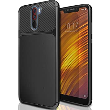 AROYI Xiaomi Pocophone F1 Funda Negro, Carcasa Xiaomi Pocophone F1 Slim Soft TPU Silicone Antigolpes Back Bumper Protective Case Cover para Xiaomi ...