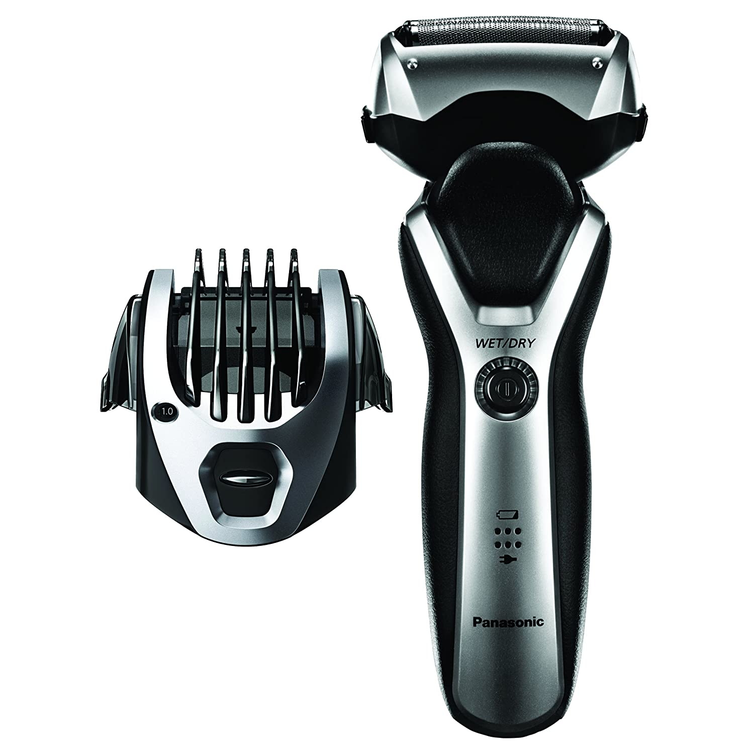 Panasonic ES-RT47-S Arc3 Electric Razor, Men s 3-Blade Cordless, Comb Trimming Attachment Included, Wet Dry Operation