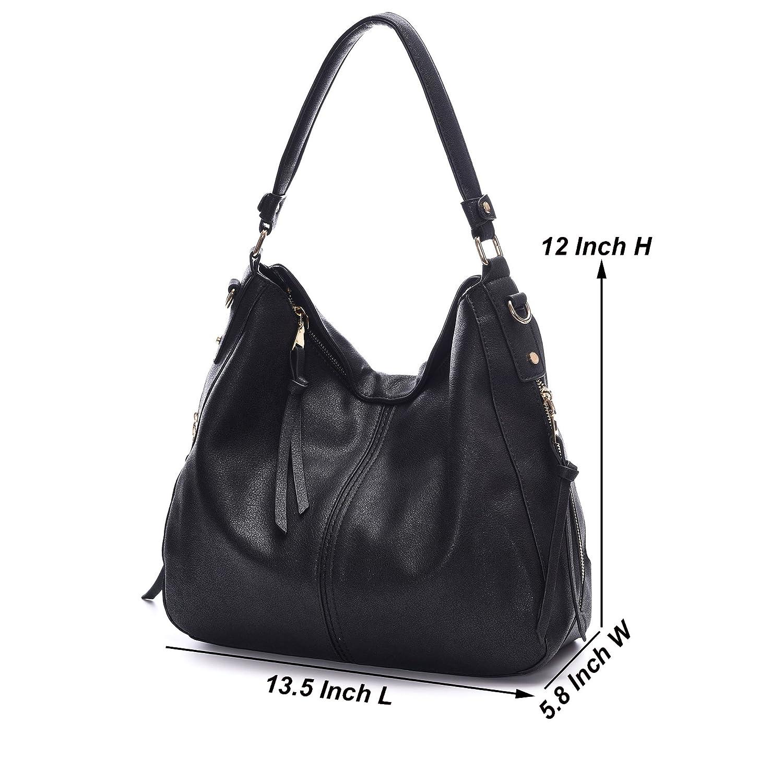 Amazon.com: DDDH Vintage Hobo Handbags Shoulder Bags Durable Leather ...