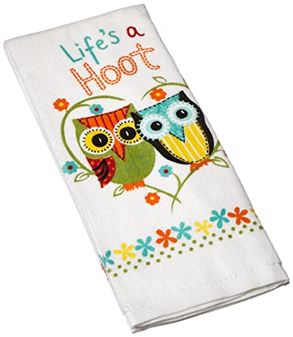 Kay Dee Designs Cotton Terry Towel, 16 By 26 Inch, Lifeu0027s A Hoot