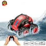 Upgraded Version of Waterproof RC Remote Control Stunt car, 2.4Ghz 4WD Water and Land RC Remote Control Truck 360 Degree Rotation and flip flip Racing Toy, Children's Christmas Birthday Gift