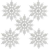 Naler 24 Copo de Nieve Plástico Colgante Adorno
