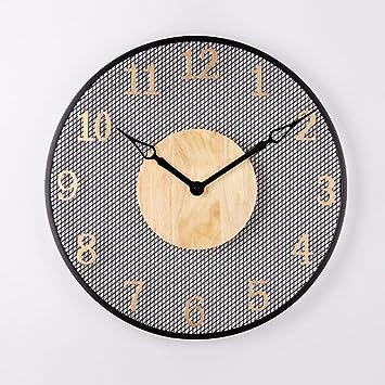 Reloj De Pared Minimalista, Moderno Comedor Dormitorio Entrada Redondo Reloj Reloj Reloj Digital Pared Del Fondo Aire Personalidad,A: Amazon.es: Hogar