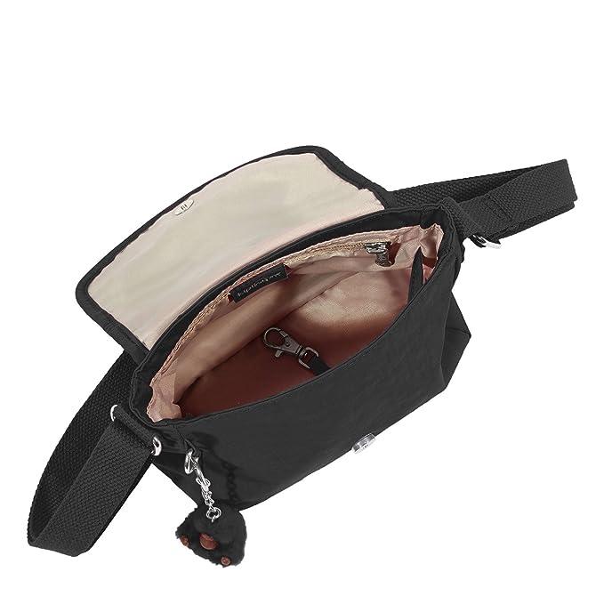 Amazon.com: Kipling Sabian minibolsa cruzada lisa., negro ...