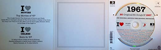 1967 Birthday Gift - I Love 1967 Compilation Music Hits CD - 20 Original  Songs - 1967 Year Greeting Card CD