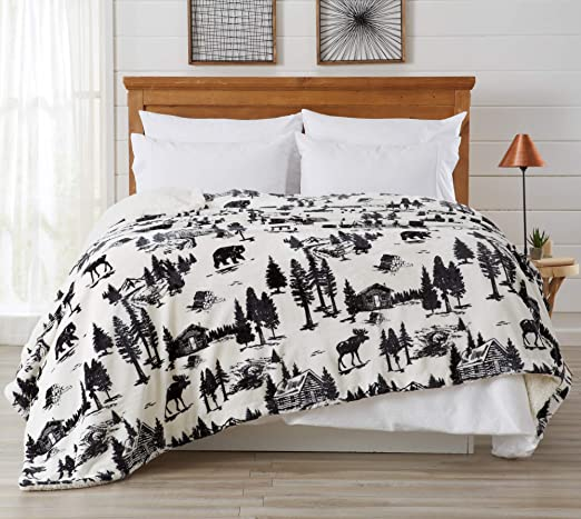 Amazon Com Home Fashion Designs Premium Reversible Sherpa And Fleece Velvet Plush Blanket Fuzzy Soft Warm Berber Fleece Bed Blanket King December Frost Home Kitchen