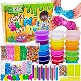 DIY Slime Kit for Girls Boys - Ultimate Glow in The Dark Glitter Halloween Slime Making Kit - Slime Kits Supplies…