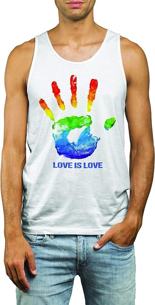 LGBT Love is Love Gay Lesbian Mens Tank Top T-Shirt Muskelshirt Vest