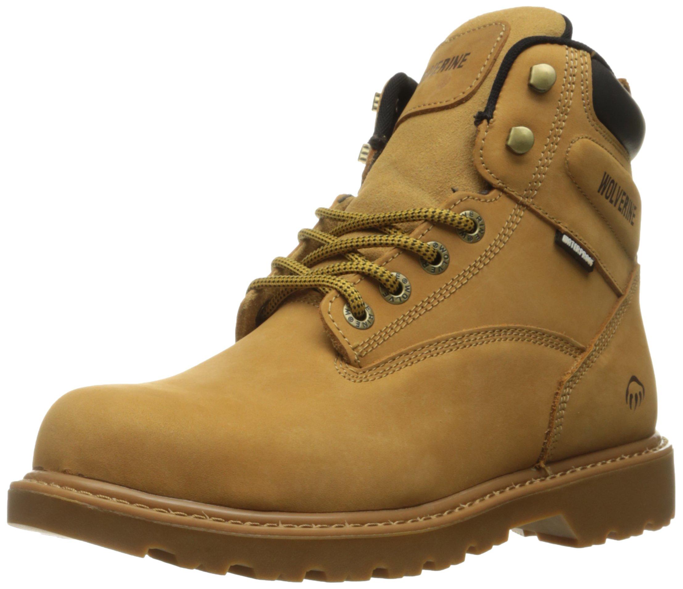 Wolverine Men's Floorhand 6 Inch Waterproof Steel Toe Work Shoe, Wheat, 14 M US